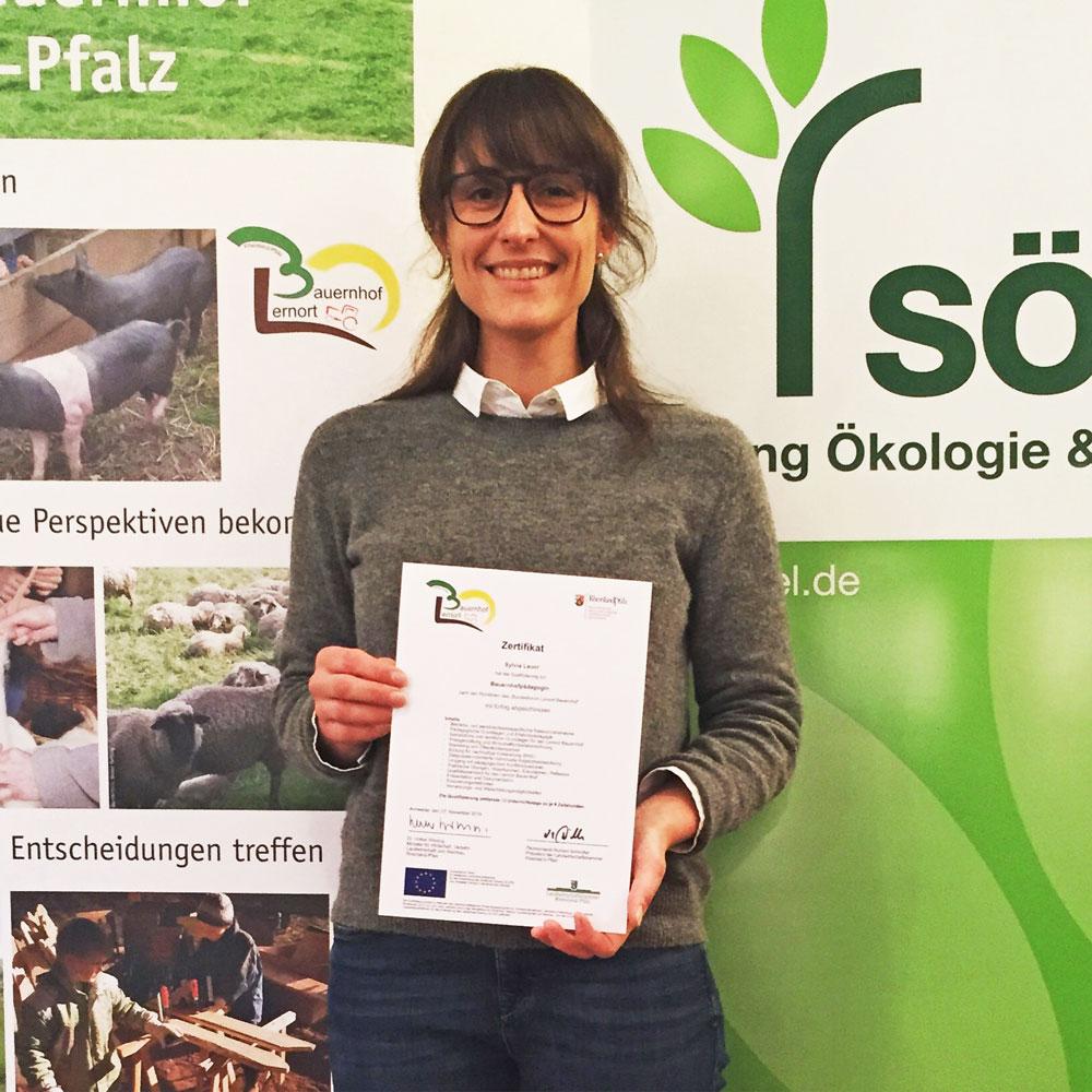 Bauernhofpädagogin Sylvia Lauer